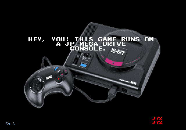 Sega Megadrive (JP); Region Lockout Screen (Mockup) (0I6 Colours).png